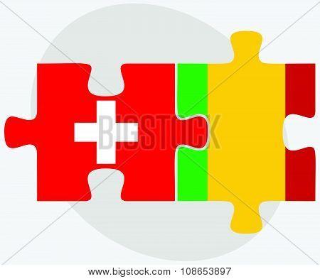 Switzerland And Mali Flags