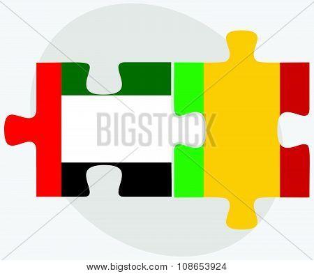 United Arab Emirates And Mali Flags