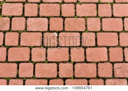 Red Stone Paving Texture