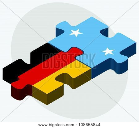 Germany And Micronesia Flags