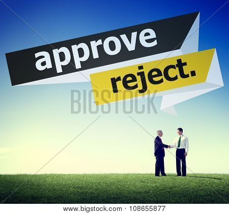 Approve Reject Decision Selection Concept
