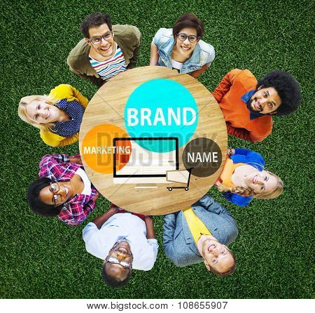 Brand Branding Advertising Marketing Commerce Concept