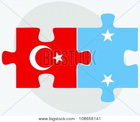 Turkey And Micronesia Flags