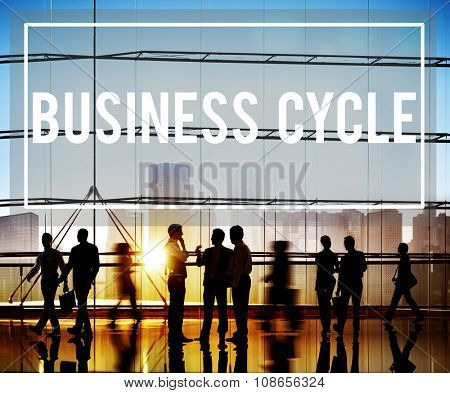 Business Cycle Income Profit Loss Recession Concept