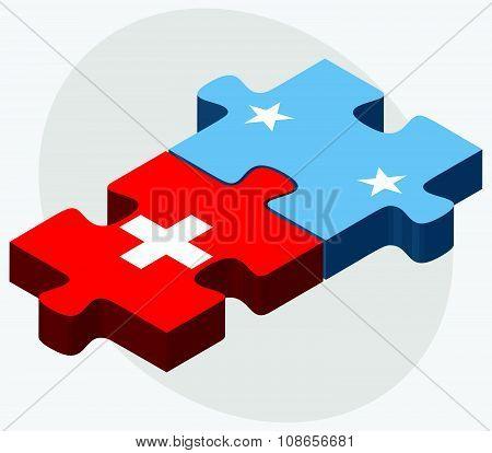Switzerland And Micronesia Flags