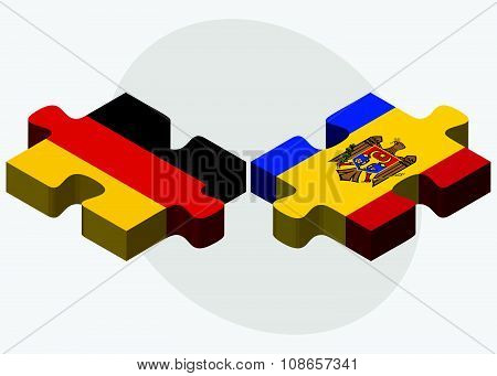 Germany And Moldova Flags