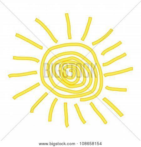 Sun Icon On White.