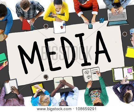 Media Advertising Information Multimedia Sharing Concept