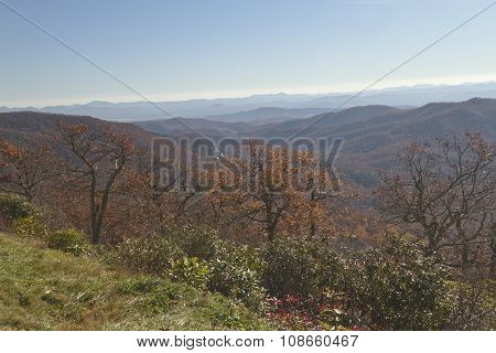 Autumn In The Montains Of Western North Carolina