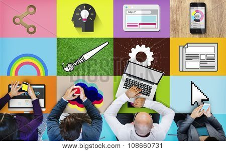 Web Design Homepage Computer Connection Concept