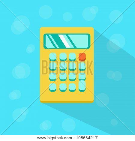 Calculator Mathematics Flat Color Icon Vector