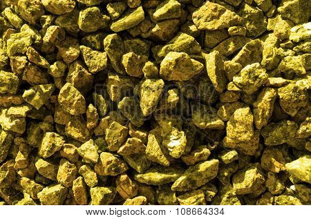 Gold Stones Gravel Texture Macro Background