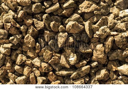Orange Stones Gravel Texture Macro Background