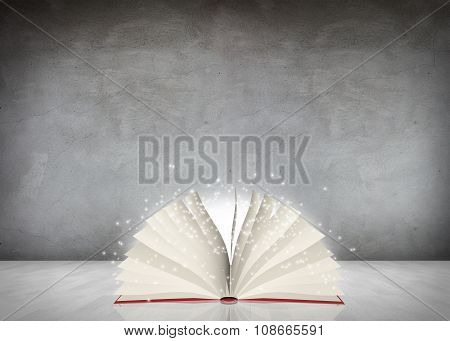 Open mysterious book