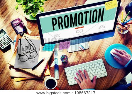 Promotion Marketing Commercial Advertising Reward Concept
