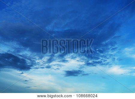 Beatiful Background, Bright Clouds with Blue Sky