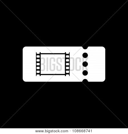 The blank cinema ticket icon