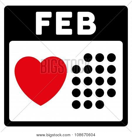 Valentine February Day Icon