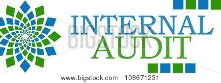 Internal Audit Green Blue Squares Horizontal