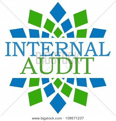Internal Audit Green Blue Squares Background