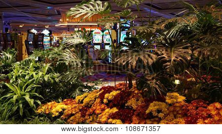 Flowers installation at the Wynn Hotel and casino in Las Vegas