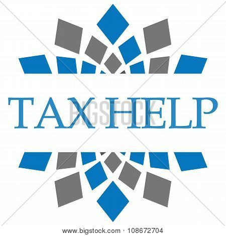 Tax Help Blue Grey Squares Background