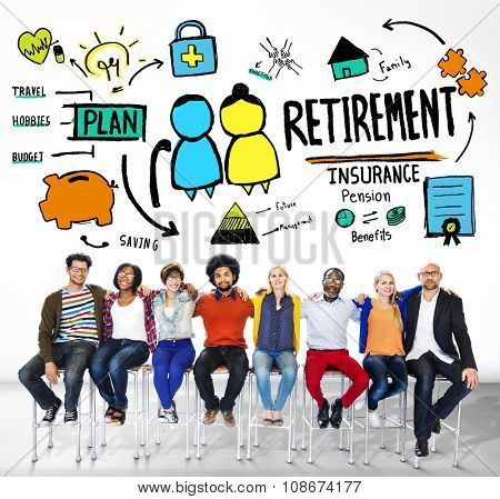 Diversity Casual People Retirement Teamwork Support Concept