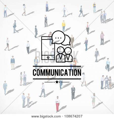 Global Communications Connection Discussion Interaction Concept