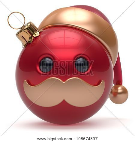 Christmas Ball Emoticon Happy New Year's Eve Bauble Santa