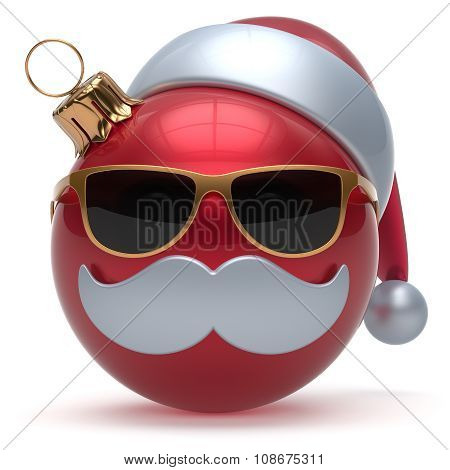 Christmas Ball Emoticon Happy New Year Bauble Santa Claus