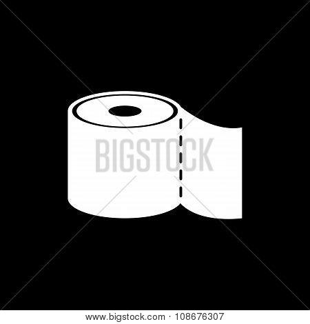 The toilet paper icon. Bathroom symbol. Flat