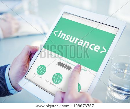 Insurance Business Benefits Security Protection Concept