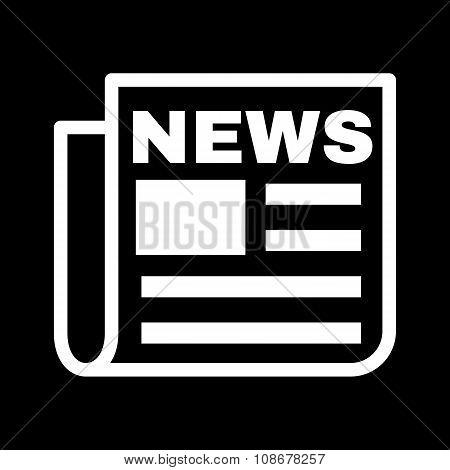 The news icon. Newspaper symbol. Flat