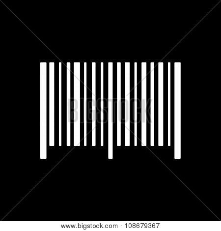 The barcode icon. Identification and ID symbol. Flat