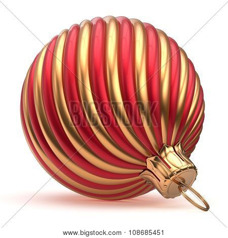 Christmas Ball Decoration New Year's Eve Red Golden Shiny