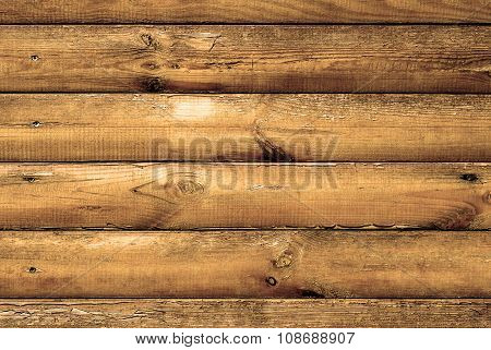 Log House Oak Wood With Hammered A Nails Texture