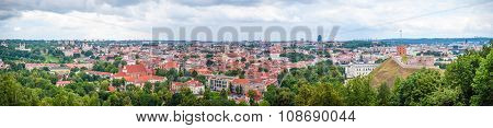 Panorama Of Vilnius In The Summer, Lithuania