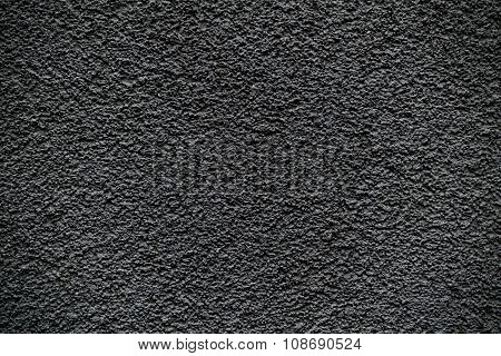 Black Revetment Wall Putty Macro Texture Background