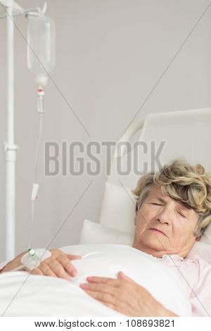 Hospital Patient During Intravenous Therapy