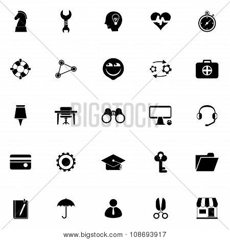 Human Resource Icons On White Background