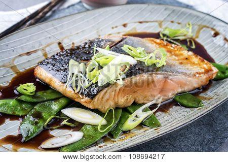 Salom Teriyaki with Vegetable