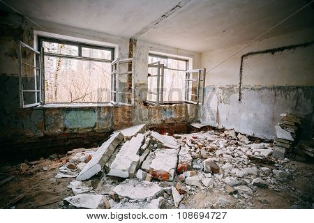Abandoned Building Interior. Chernobyl Disasters