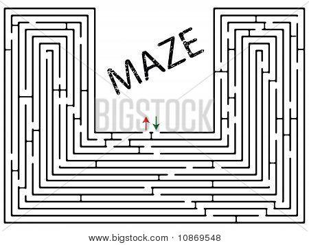 Labyrinth gegen weiß