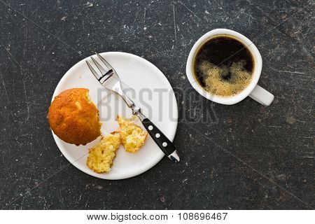 the sweet muffin and coffee