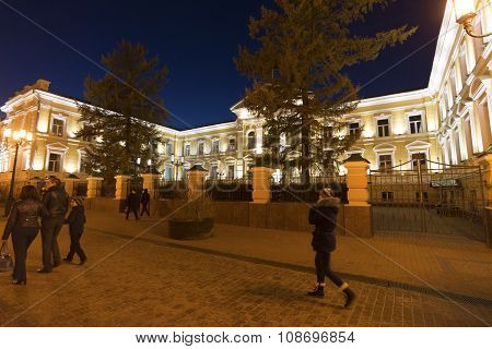 Nizhny Novgorod, Russia -04.11.2015. The Regional Court was built in  19th century