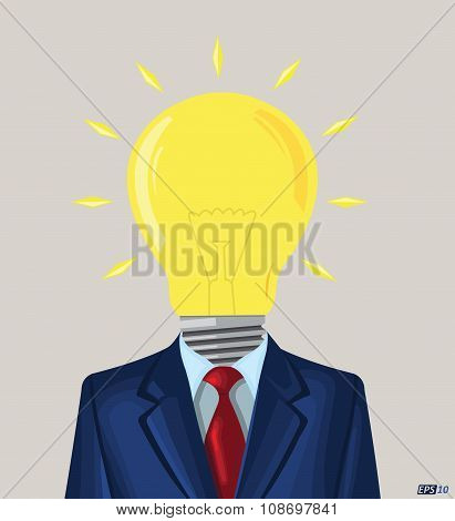 Business Idea, Idea Bulb, Creativity, Creative Idea, Innovation or Uniqueness