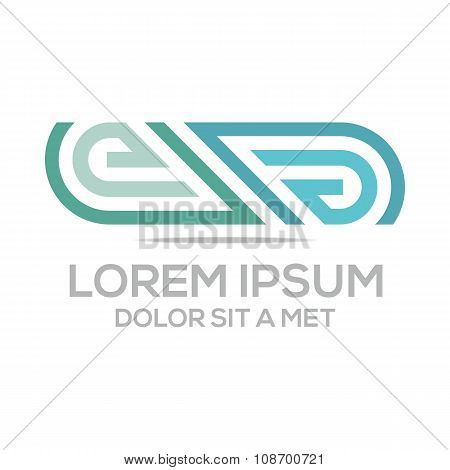 Logo symbol lettering design abstract