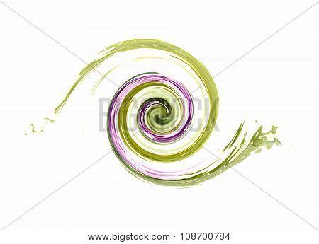 smeared colorful circle