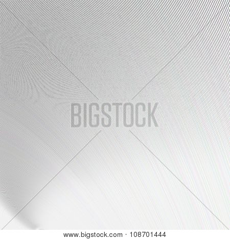 White abstract curved background