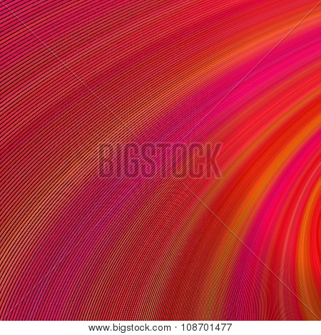 Red abstract curved background